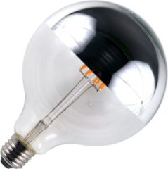 SPL globelamp kopspiegel LED filament 6,5W (vervangt 47W) grote fitting E27 zilver 125mm