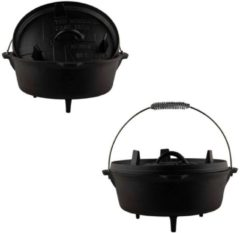 Zwarte The Windmill Cast Iron Dutch Oven 9Qt 8,5ltr