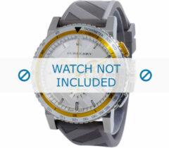 Grijze Burberry horlogeband BU9811 Silicoon Grijs