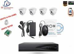 Witte Home-Locking camerasysteem met bewegingsdetectie en NVR 2.0MP H.265 POE en 4 binnen camera's 2.0MP CS-4-1401D