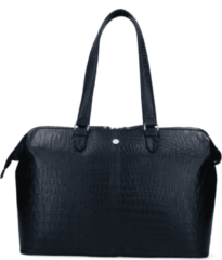 Zwarte FMME Christy Laptoptas 15,6 inch Croco Black