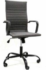 Antraciet-grijze Breazz Manhattan High Fabric - Bureaustoel - Donkergrijs stoffen zitting - Zwart onderstel
