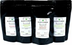 Black & Green Tea Company Proefpakket - Klassiek Losse Thee - Classic Loose Leaf Tea - 4 x 100gram