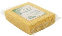 Viscose spons geel 14 x 11 x 3,5 cm - Biologisch afbreekbare sponzen - Schoonmaak / keukenartikelen