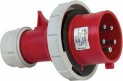Mete - CEE male 5 polig 6H 32A IP67 - waterdicht - kracht - rood - stekker 380-415VAC