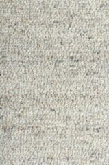 MOMO Rugs - MOMO Rugs Wool Fine 182 Rond Vloerkleed - 200 cm rond - Rond - Laagpolig, Structuur Tapijt - Industrieel, Landelijk - Bruin, Grijs
