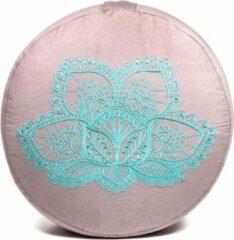 Roze Yogi & Yogini Meditatiekussen Lotus Bio Katoen