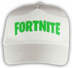 """Merkloos / Sans marque Witte Pet met Groen """" Fortnite """" logo"""