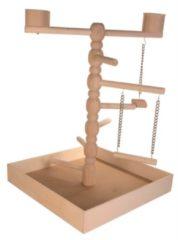 Trixie Speelplaats Hout Voor Agapornis En Parkiet - Vogelspeelgoed - Hout - 41x41x55 cm