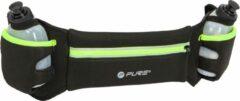 Pure2Improve-Hardloopriem met flesjes-Geel-Reflecterend-Verstelbaar-Hardloop-Comfortabel