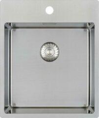 Roestvrijstalen Caressi PP spoelbak B44xL52xD18.5cm naadloze plug RVS CAPP40KR10
