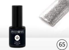 Awesome #65 Zilver Glitter Gelpolish - Gellak - Gel nagellak - UV & LED