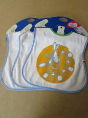 Blauwe Slabbetjes set 3stuks ( bavet ) bebe confort flessen