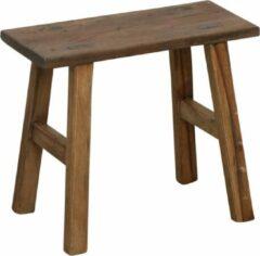 Bruine Raw Materials Carpenter bankje - Krukje - 35x16x30cm - Hout