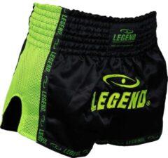Legend Sports Kickboks broekje neon groen mesh Legend Trendy L