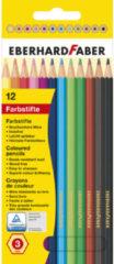 Kleurpotlood Eberhard Faber 17,5cm kartonnen etui à 12 stuks assorti kleuren EF-514812