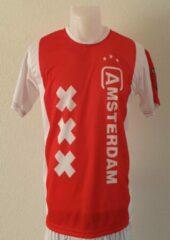 Rode Amsterdam voetbaltenue - Imitatie Voetbal Shirt + Broek Set - Thuistenue Ajax Amsterdam Fan Shirt en broek - Maat: 140