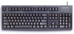 Zwarte Keyboard CHERRY G83-6105 W95 USB black/black UK Layout bulk