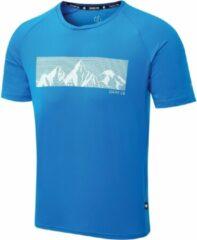 Dare 2B Righteous II Grafisch T-Shirt Met Korte Mouwen Voor Heren Helderblauw