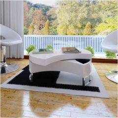 VidaXL Salontafel met aanpasbare vorm hoogglans wit VDXL 240424