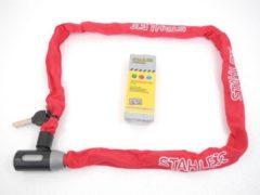 Deltafix Stahlex Ø5mm / 120cm kettingslot fietsslot | 635g ideaal gewicht voor een fietser | zeer goede kwaliteit | rood