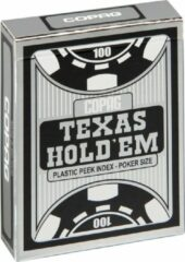 Cartamundi Plastic speelkaarten Texas Hold'em Zwart - Peek Index - Copag
