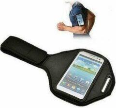 Zwarte Galaxy Core Sportarmband loopband sport armband tbv Samsung