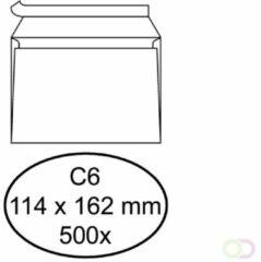 Bruna Envelop Hermes bank C6 114x162mm zelfklevend wit 500stuks
