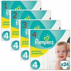 Pampers Premium Protection - Maat 4 (Maxi) 9-14 kg - Grootverpakking 96 Stuks (4x24) - Luiers