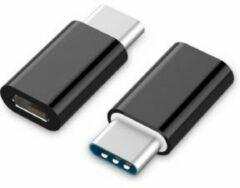 Gembird A-USB2-CMmF-01 USB Type-C Micro USB Zwart kabeladapter/verloopstukje