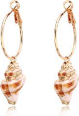 Roze LGT JWLS LGT Jewels damesoorbellen met Spiraalvormige Schelp
