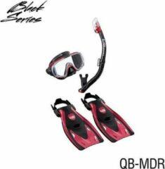 Tusa sport Tusa Visio Tri-Ex Travel snorkelset Rood M 36-42