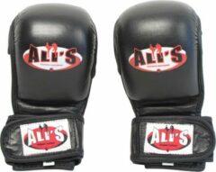 Zwarte Ali's Fightgear Ali's fightgear echt lederen mma handschoenen maat XL