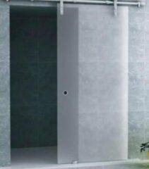 Bouwvoordeel Aloni schuifdeur melkglas Porte Coulissante 100x200cm