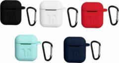 Unique Siliconen Hoesje Airpods Zwart | Case | Skin | Soft TPU | Ultra Dun