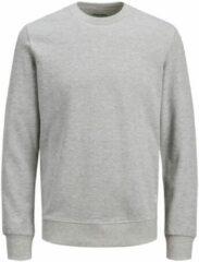 Licht-grijze JACK & JONES ESSENTIALS sweater lichtgrijs melange