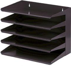 David & Elena Class'ex sorteerrek 5delig zwart formaat 250 mm x 380 mm x 300 mm (L x B x H)