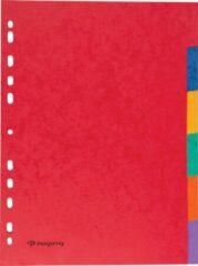 Transparante Pergamy tabbladen ft A4, 11-gaatsperforatie, stevig karton, geassorteerde kleuren, 6 tabs