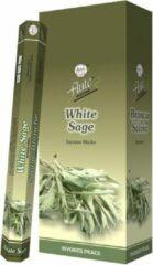 6 pakjes Witte salie / White sage Leaf wierook (flute)