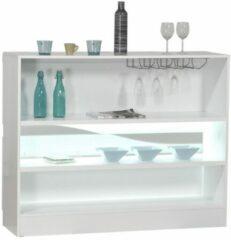 Witte Ameubelment Barkast Ovio 125 cm breed - Hoogglans wit