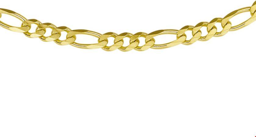 Afbeelding van Goudkleurige The Jewelry Collection For Men Ketting Figaro 4,6 mm 50 cm - Goud