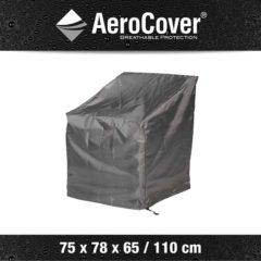 Antraciet-grijze AeroCover loungestoelhoes hoge rug XL hoes 75x78x65/110 - antraciet