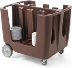 Zwarte Hendi Bordenwagen - Geschikt voor 300 borden - Ø17 tot Ø33cm - 93x72x(H)78,5cm