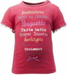Rode Beebielove Baby T-shirt Maat 80