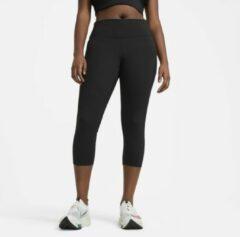 Nike Fast Korte hardlooplegging voor dames (grote maten) - Zwart