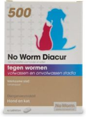 No Worm Diacur 500 Hond En Kat - Anti wormenmiddel - 10 10 tab