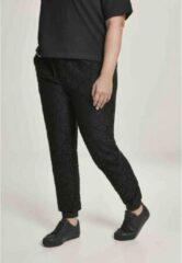 Urban Classics Dames jogging broek -XL- Lace Jersey Zwart