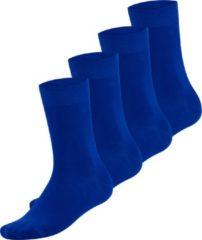 Bambocks.nl Bambocks Bamboe Sokken 4 paar - Kobaltblauw - Maat 39-42