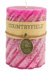 Countryfield Stompkaars met ribbel Fuchsia Ø7 cm   Hoogte 15 cm