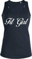 New York Finest Fit Girl dames sport shirt / hemd / top zwart - maat S
